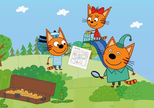 Спектакль для детей «Три кота. Поиски сокровищ»